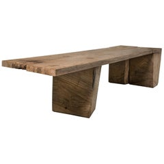 Sculpted Massive Dining Table V2 in Solid Oakwood 'Custom Size'