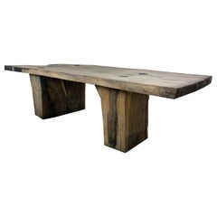Sculpted Massive Dining Table V5 in Solid Oakwood 'Custom Size'