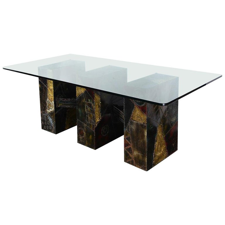 Sculpted Metal Dining Table by Paul Evans for Directional