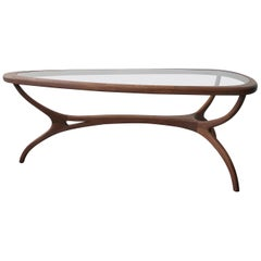 Sculpted Midcentury Brazilian Coffee Table by Giuseppe Scapinelli