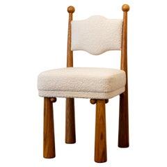 Mawu Sculpted Oak Chair by Laura Gonzalez
