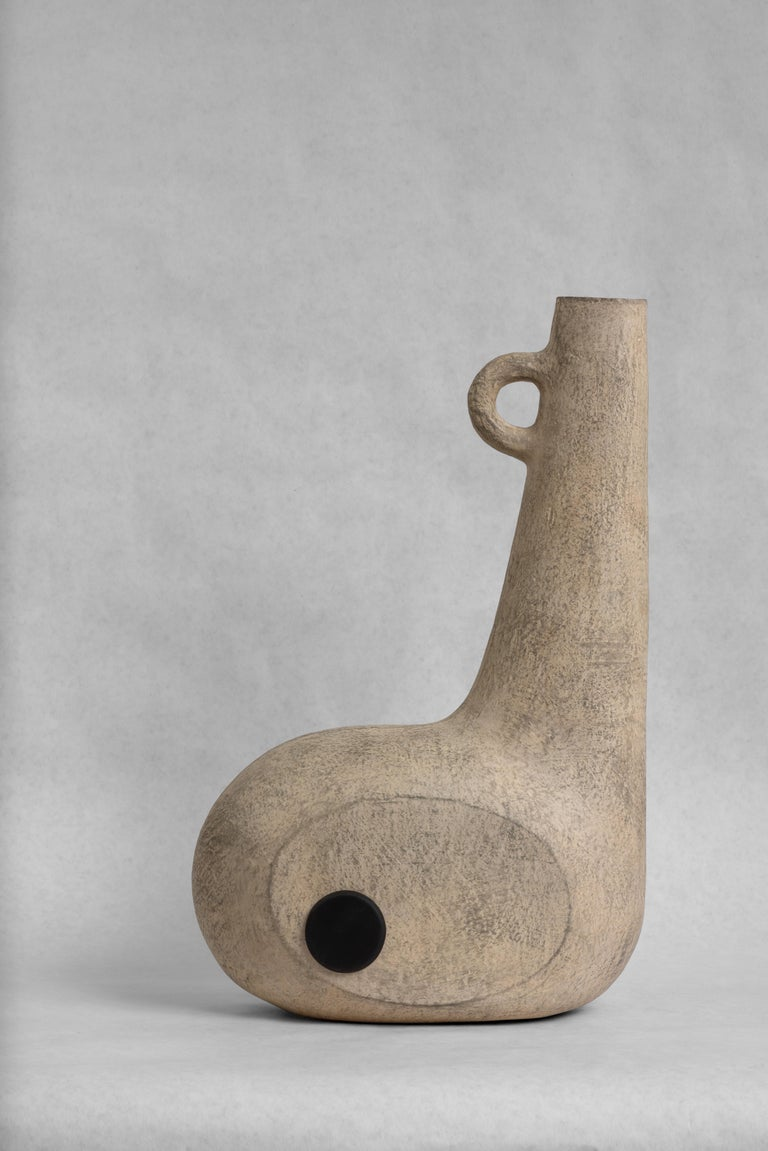 Sculpted Pair of Ceramic Vases by FAINA 3