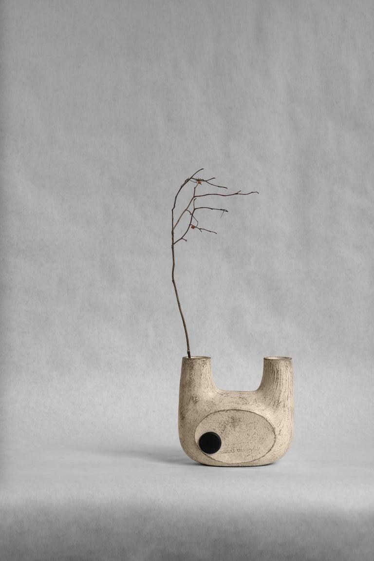 Sculpted Pair of Ceramic Vases by FAINA 5