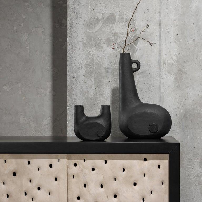 Sculpted Pair of Ceramic Vases by FAINA 7
