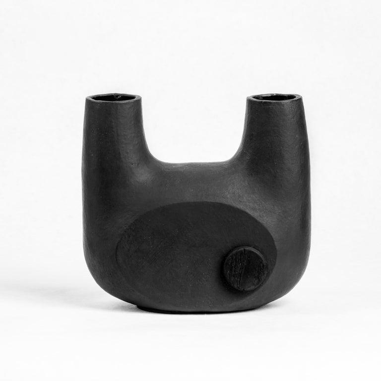 Sculpted Pair of Ceramic Vases by FAINA 11