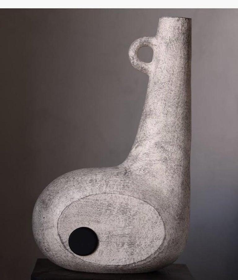 Sculpted Pair of Ceramic Vases by FAINA 12