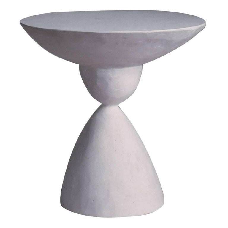 Sculpted Plaster Marasai Side Table For Sale