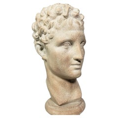 Sculpture Signed Austin Productions 1984 Bust of David