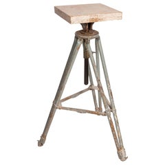 Sculptors Modelling Stand Tripod Base Adjustable Rotating Tiranti Vintage, 1950