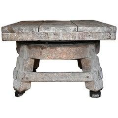 Sculptur Table 19.Jhdt. Academy of Fine Arts Berlin Rotating Oak