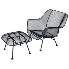 """""""Sculptura"""" Lounge Chair and Ottoman by Russell Woodard"""