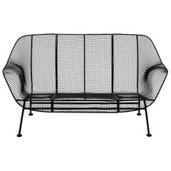 Sculptura Outdoor Settee or Loveseat by Russell Woodard, Restored, Excellent