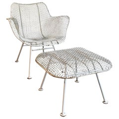 Sculptura Patio Armchair with Ottoman by Russell Woodard