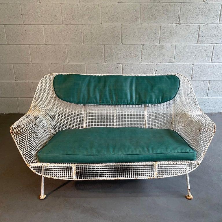 Mid-Century Modern Sculptura Patio Loveseat Sofa by Russell Woodard For Sale