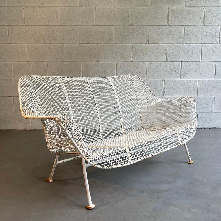 20th Century Sculptura Patio Loveseat Sofa by Russell Woodard For Sale