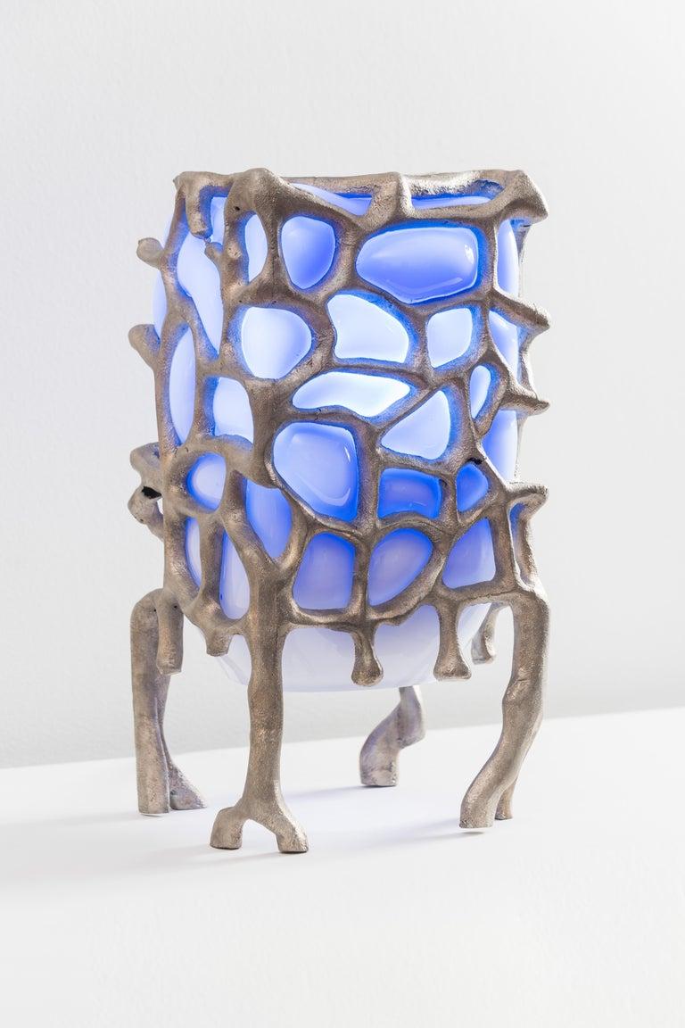 American Sculptural Aluminum 'Illumination Machine' Table Lamp For Sale