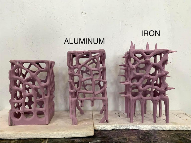 Sculptural Aluminum 'Illumination Machine' Table Lamp For Sale 1