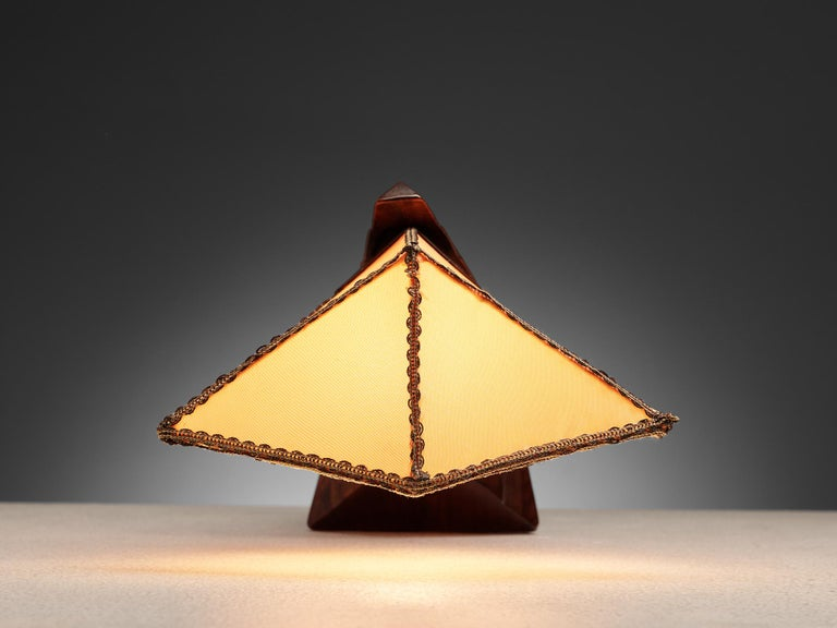 Art Deco Sculptural Amsterdam School Table Lamp For Sale