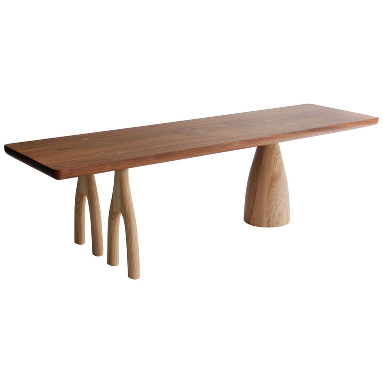Mezcal, Asymmetrical Rectangle Walnut and Ash Coffee Table by SinCa Design For Sale