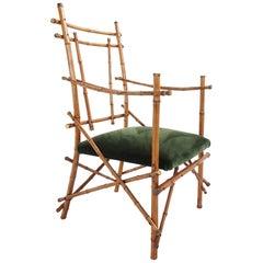 Sculptural Bamboo Armchair, Italy, 1960