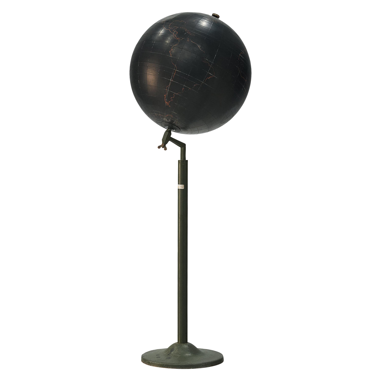 Sculptural Belgian Globe Floor Stand