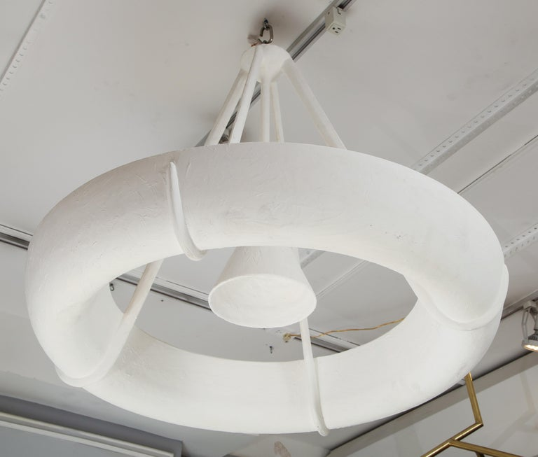 Sculptural Bespoke Plaster Fixture in the Jean Michel Frank Manner In New Condition For Sale In New York, NY