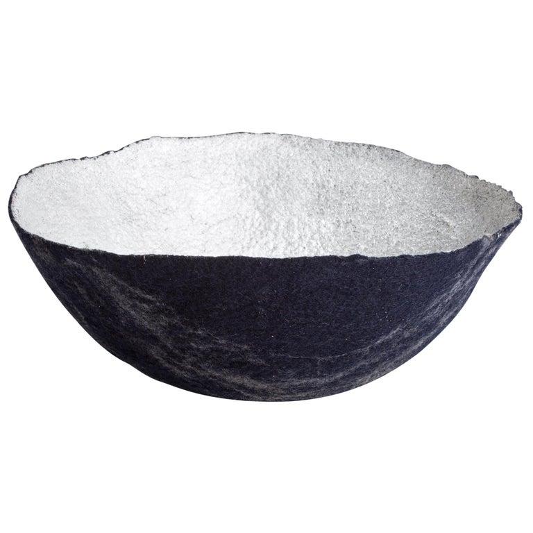 Sculptural Bowl in Metallic Felt by Ronel Jordaan, 2014 For Sale