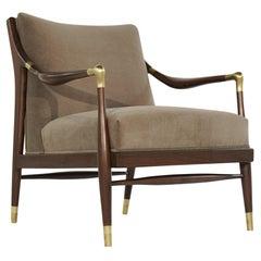 Sculptural Brass-Accented Lounge Chair, Jamestown Royal, 1950s