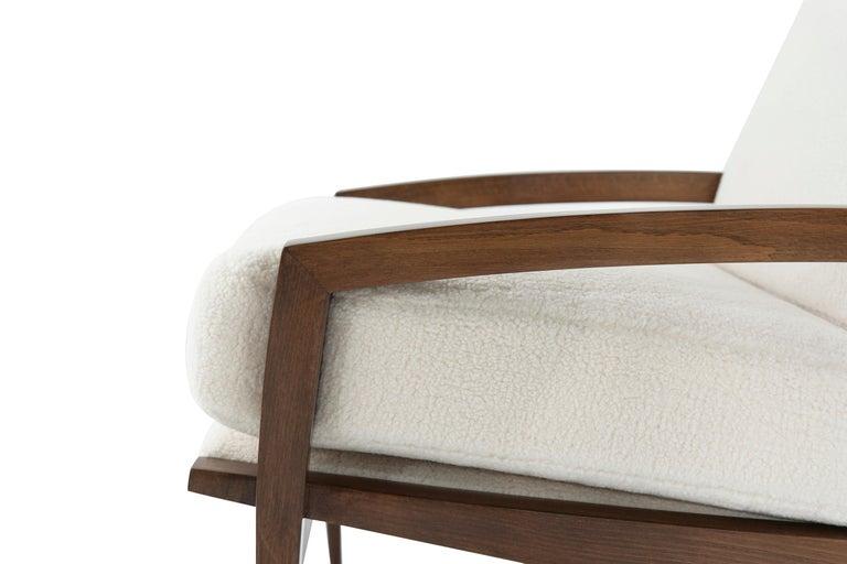 Sculptural Brass Accented Teak Lounge Chairs, Denmark, 1950s 1