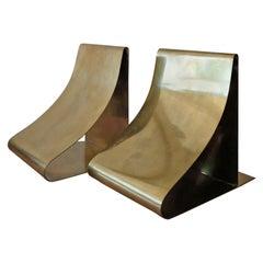Sculptural Brass Bookends by Sarreid Ltd.