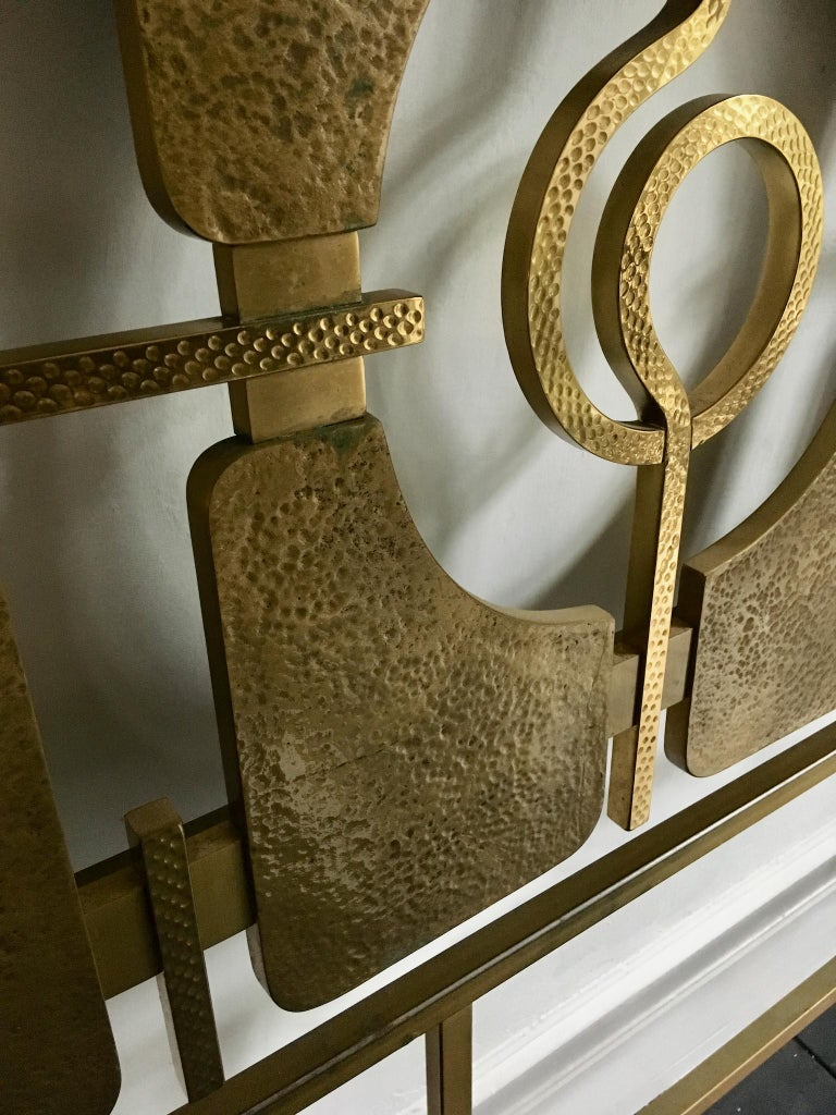 Sculptural Brass Headboard by Luciano Frigerio, Italy, 1960s 3