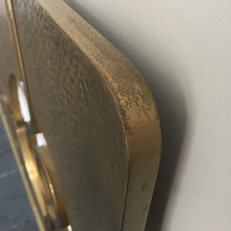 Sculptural Brass Headboard by Luciano Frigerio, Italy, 1960s For Sale 4