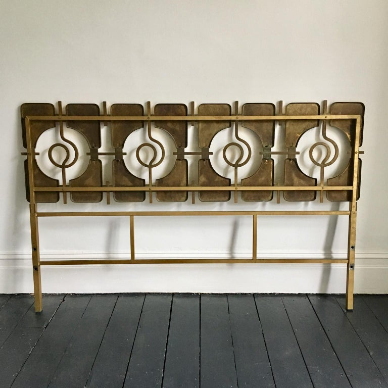Sculptural Brass Headboard by Luciano Frigerio, Italy, 1960s For Sale 5