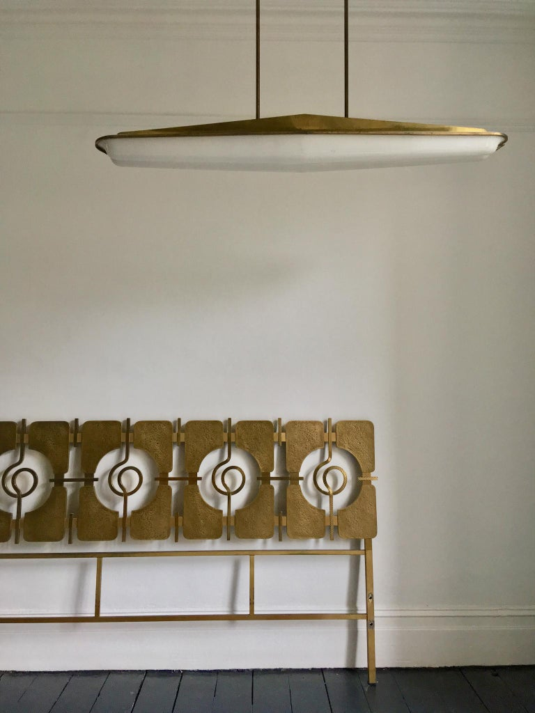 Sculptural Brass Headboard by Luciano Frigerio, Italy, 1960s 6