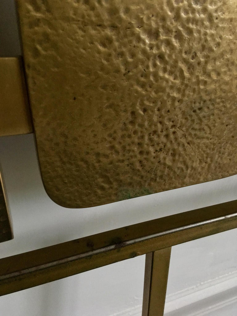 Sculptural Brass Headboard by Luciano Frigerio, Italy, 1960s 2