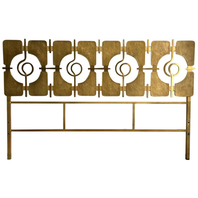 Sculptural Brass Headboard by Luciano Frigerio, Italy, 1960s For Sale