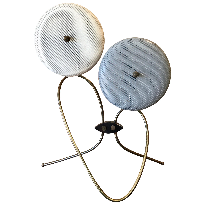 Sculptural Brass Table Lamp