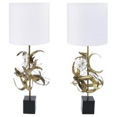 Sculptural Brass Table Lamps by Laurel