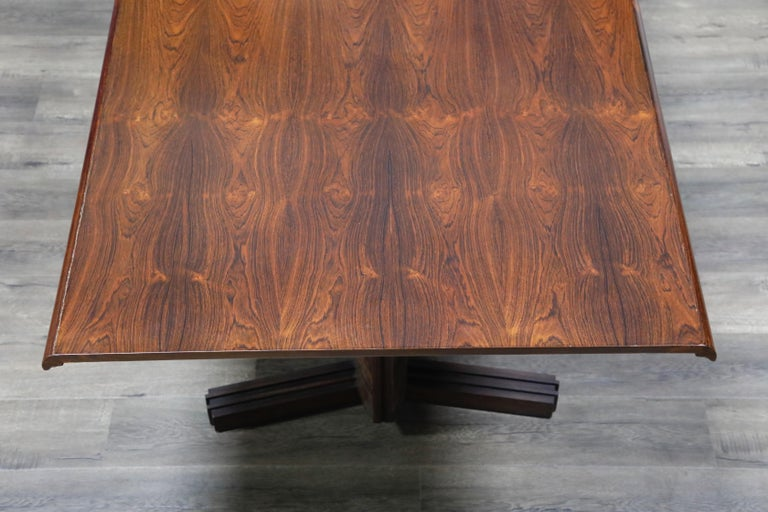 Sculptural Brazilian Rosewood Dining Table by Novo Rumo, Brazil, 1960s  For Sale 12