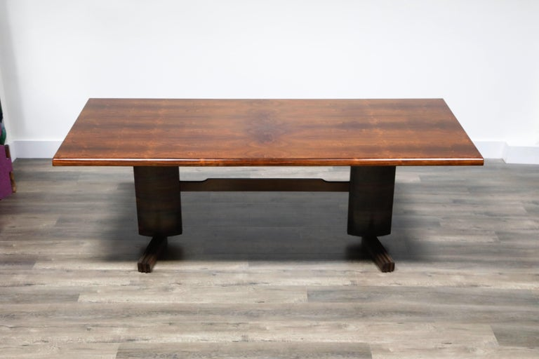 Modern Sculptural Brazilian Rosewood Dining Table by Novo Rumo, Brazil, 1960s  For Sale