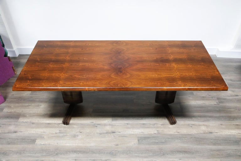 Sculptural Brazilian Rosewood Dining Table by Novo Rumo, Brazil, 1960s  In Excellent Condition For Sale In Los Angeles, CA