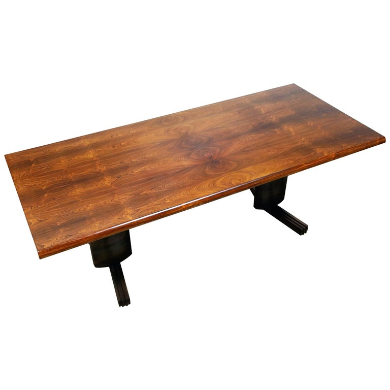Sculptural Brazilian Rosewood Dining Table by Novo Rumo, Brazil, 1960s  For Sale