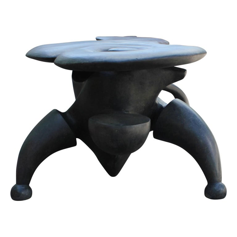 Modern Sculptural Bronze Bench by Gil Bruvel For Sale