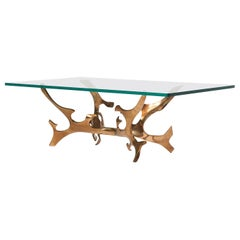 Sculptural Bronze Coffee Table by Fred Brouard