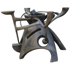 Sculptural Bronze Dining Table by Gil Bruvel