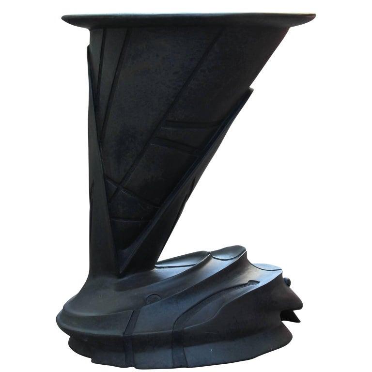 Modern Sculptural Bronze Side Tables by Gil Bruvel For Sale