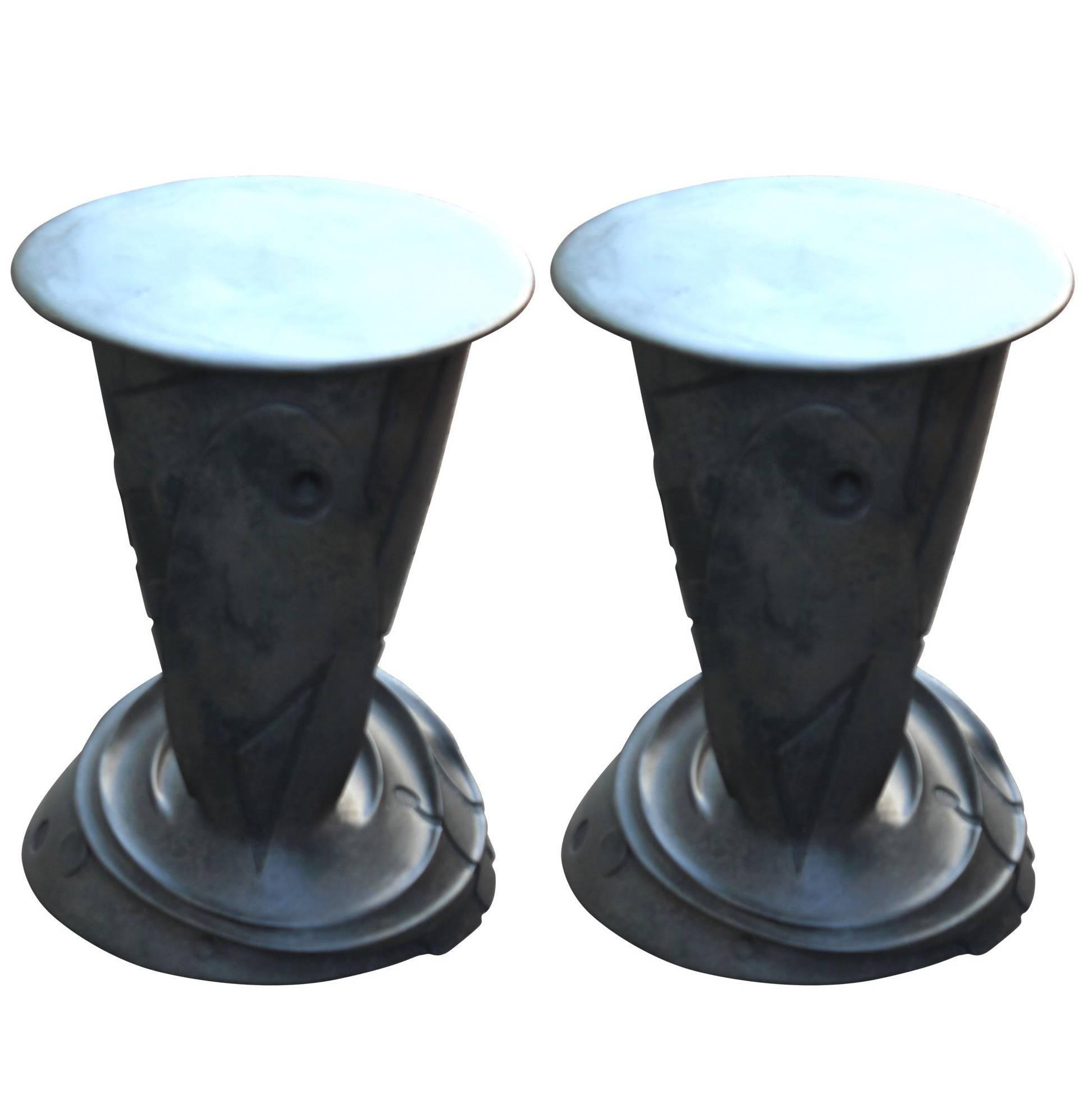 Sculptural Bronze Side Tables by Gil Bruvel
