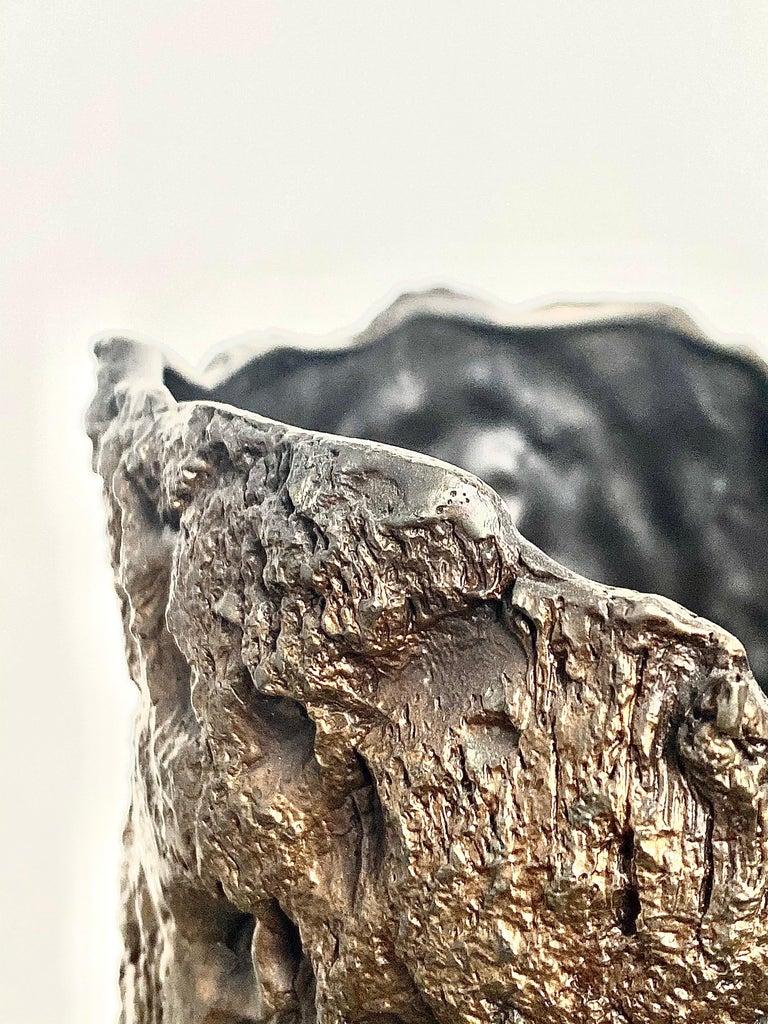 Stunning bronze sculpture vase.