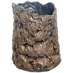 Sculptural Bronze Vase, 21st Century by Mattia Biagi