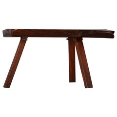 Sculptural Brutalist table Mobichalet, Circa 1950